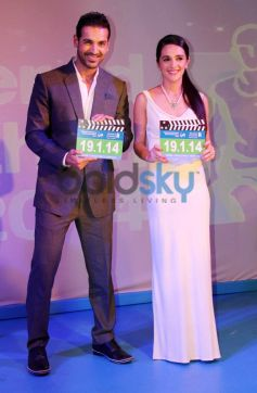 John Abraham with Tara Sharma during SCMM 2014 Press Conference
