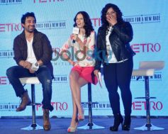 kalki koechlin and Rannvijay Singh during Launch of Metro shoes campaign
