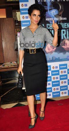 Kangana Ranaut during launches Vibha Singh's book A Convenient Culprit
