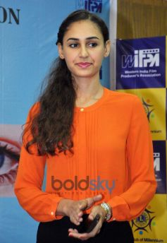 Hasleen Kaur at Medical Eye Camp Event