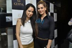 Kiran Datwani and Lavini Hansraj during Gehna Jewellers 2014 Event