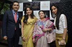 L R Sunil Datwani, Shaina NC, Rajashree Birla and Kiran Datwani during Gehna Jewellers 2014 Event