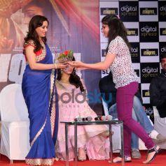 Madhuri Dixit and Huma Qureshi at Music launch of film Dedh Ishqiya