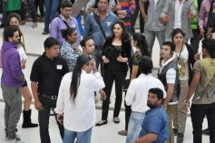 Madhuri Dixit on the sets of Oral-B ad shoot