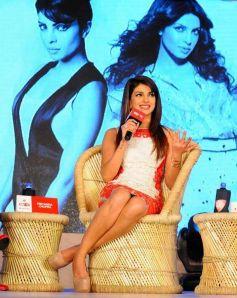 Priyanka Chopra during the Agenda Aaj Tak program