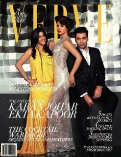 Priyanka Chopra, Ekta Kapoor and Karan Johar on the cover of Verve Dec 2013