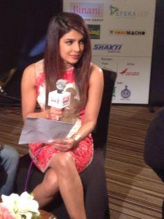 Priyanka Chopra  at the Agenda Aaj Tak program