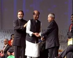 Rajinikanth honoured by the President of India Pranab Mukherjee