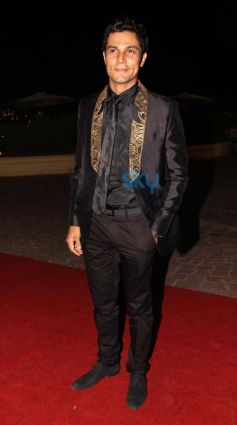 Randeep Hooda during Aamna Sharif Amit Kapoor Wedding Reception