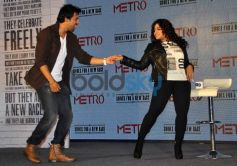 Rannvijay Singh dance with anchor Launch of Metro shoes campaign