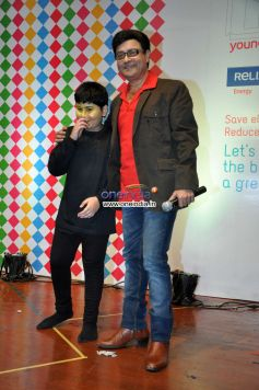 Sachin Pilgaonkar during Save Electricity kids competition