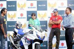 Salman Khan at the launch of Suzuki Biking Lords