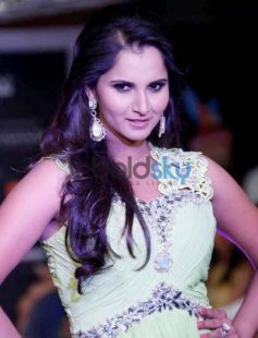 Sania Mirza walks ramp at Hyderabad International Fashion Week