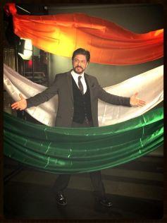 Shahrukh Khan during the Agenda Aaj Tak program