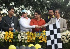 Shekhar Suman and Adhyayan Suman during the Godrej Eon Tour de India 2013