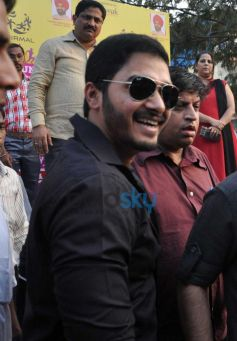 Shreyas Talpade during Harley Davidson bike rally