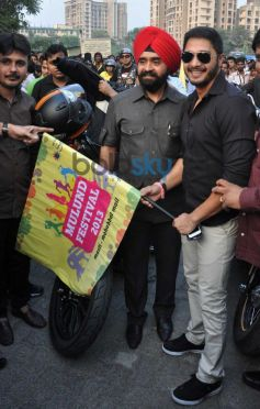Shreyas Talpade Flag off Harley Davidson bike rally