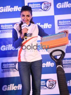 Soha Ali Khan addressing during the Gillette SIM event