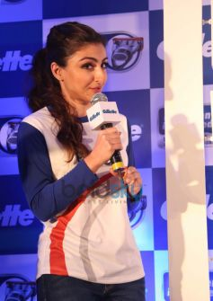 Soha Ali Khan addressing at the Gillette SIM