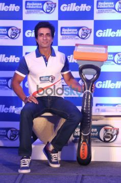 Sonu Sood during  Gillette SIM