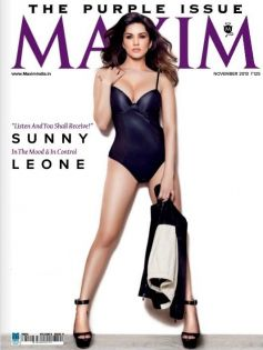 Sunny Leone on the cover of Maxim magazine Nov 2013 issue