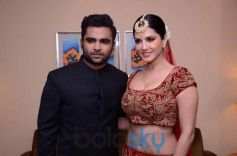 Sunny Leone with Sachiin J Joshi during Ramola Bachchan Runway Rising