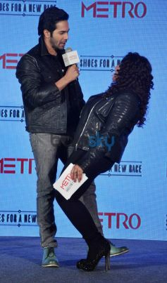 Varun Dhawan during Launch of Metro shoes campaign