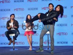 Varun Dhawan lifts anchor dirng Launch of Metro shoes campaign
