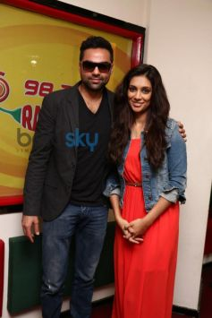 Abhay Deol and Preeti Desai at Radio Mirchi for promotion