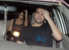 Arbaaz Khan and Malaika Arora Snapped at Airport
