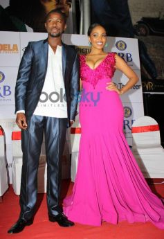 Atandwa Kani and Terry Pheto during the premiere of Mandela Long Walk to Freedom