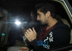 Ayan Mukherjee and Arti Shetty snapped at Aamir Khan's Residence