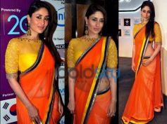 Kareena Kapoor Khan in Orange And Yellow Saree