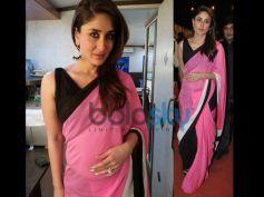 Kareena Kapoor Khan in Pink And Black Saree