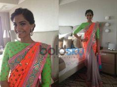Sonam Kapoor in Glittering Mirrors Saree