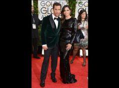 Camila Alves during Golden Globe Awards 2014