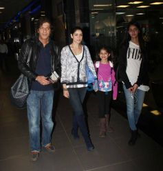 Chunky Pandey with family Snapped at Airport