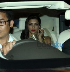 Deepika Padukone snapped in car at Filmfare 2014