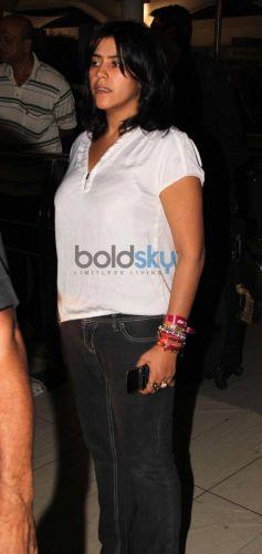 Ekta Kapoor Snapped at Airport