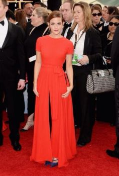 Emma Watson during Golden Globe Awards 2014