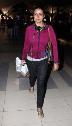 Gul Panag Snapped at Airport