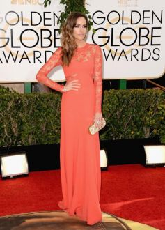 Louis Roe on red carpet at Golden Globe Awards 2014