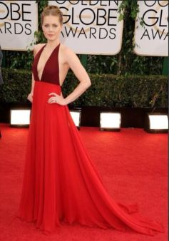 Amy Adams on red carpet at Golden Globe Awards 2014