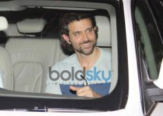 Hrithik Roshan Snapped in His Car During new year celebratiion