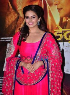 Huma Qureshi stunning look during Dedh Ishqiya Premiere