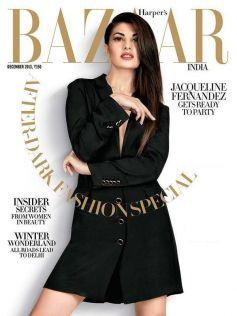 Jacqueline Fernandez on the cover of Harper's Bazaar Dec 2013