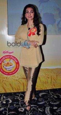 Juhi Chawla during Kellogg's Event