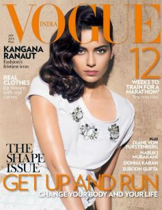 Kangana Ranaut on the cover of Vogue JAN 2014