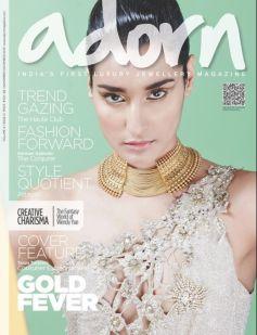 Kanishtha Dhankar on the cover of Adorn magazine Dec 2013