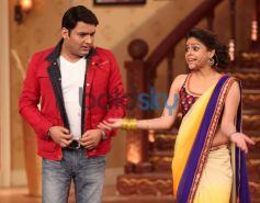 Kapil Sharma with Sumona Chakravarti during Show